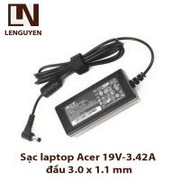 Sạc laptop Acer 19V-3.42A đầu 3.0 x 1.1 mm