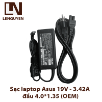 Sạc laptop Asus 19V-3.42A đầu 4.0*1.35mm