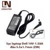 Sạc laptop Dell 19V-1.58A đầu 5.5x1.7mm (ZIN)