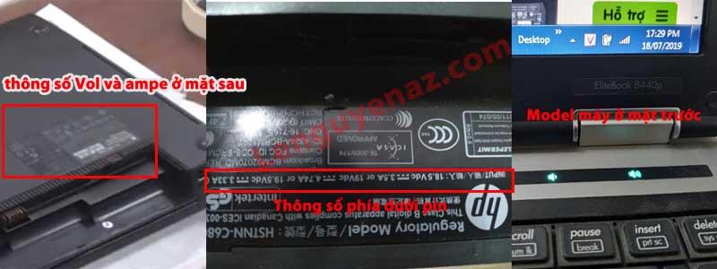 Thông số sạc laptop hp compaq